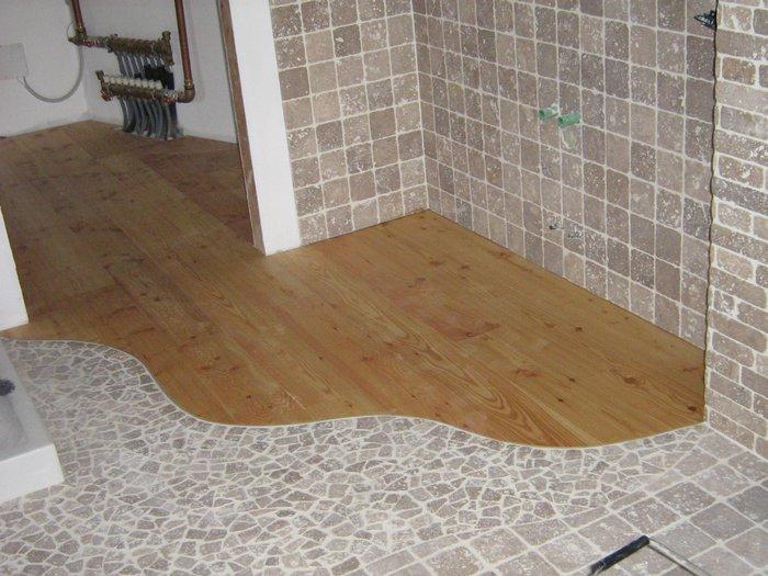 pavimenti in legno e piastrelle
