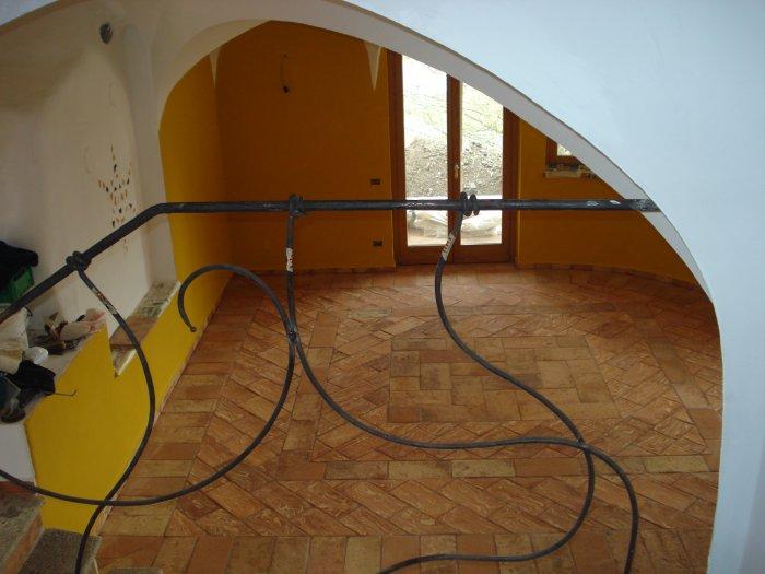 Pavimenti in cotto realizzati da Leo Parquet